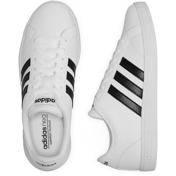 adidas NEO Baseline Women\u0027s Athletic Shoes, White (Size: 7 1/2 Medium