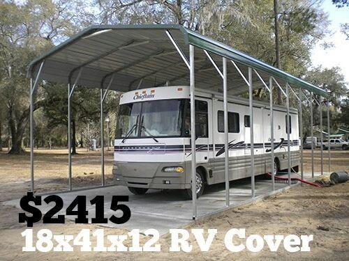 Metal Rv Garage Details About Rv Cover Carport Metal
