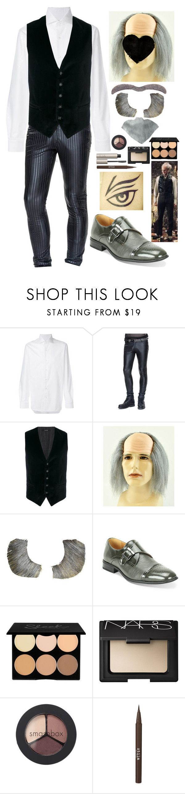 """elias - halloween 2017 (count olaf)"" by kinathegreat ❤ liked on Polyvore featuring Barba, Tagliatore, NARS Cosmetics, Smashbox, Stila, men's fashion and menswear"