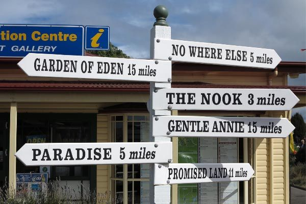 Place names in #Kentish. Photo and article by Carol Haberle for Think #Tasmania.
