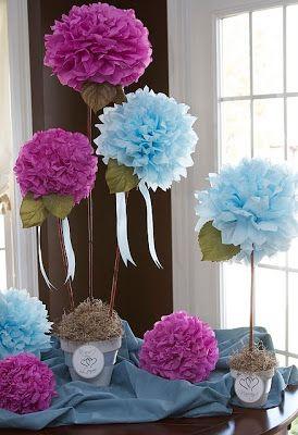 decoração com bolas papel de seda para o dia das mães - Pesquisa Google