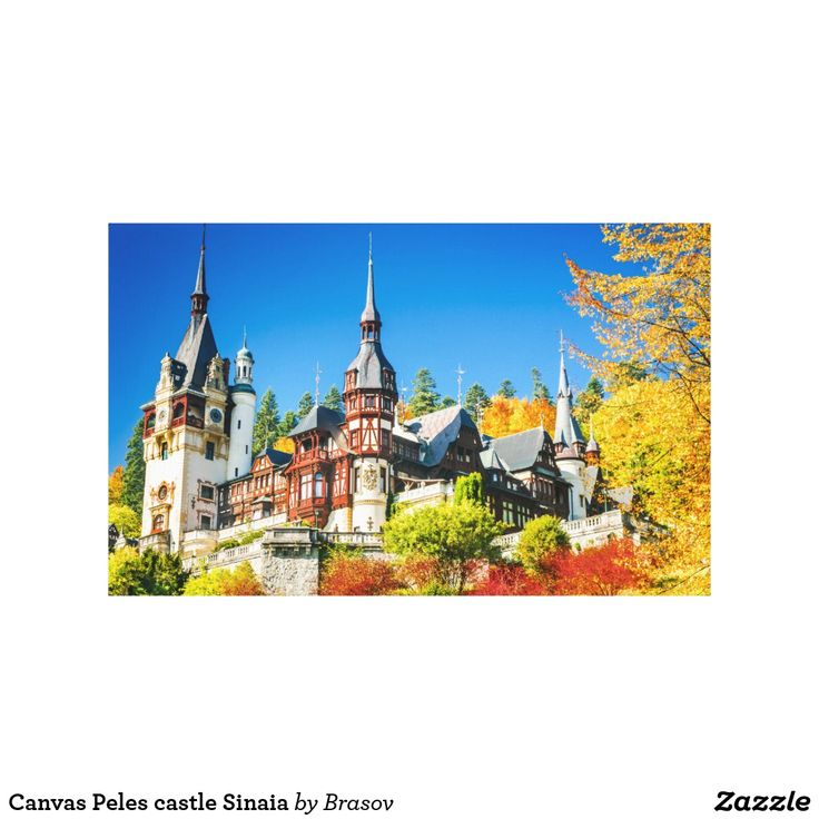 Canvas Peles castle Sinaia