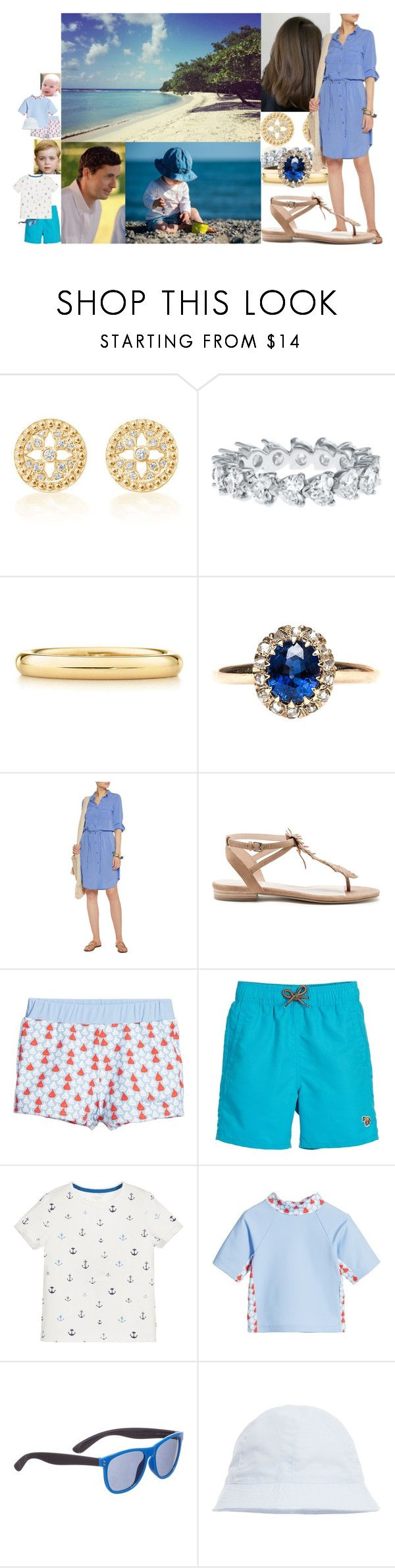 Making sandcastles with the boys down on the beach by lady-maud on Polyvore featuring Melissa Odabash, Sole Society, Elsa Peretti, Paul Smith, Laranjinha and STELLA McCARTNEY