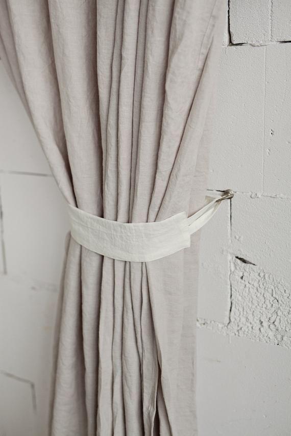 Linen Curtain Tie Back Curtain Holder Window Treatments Set Of