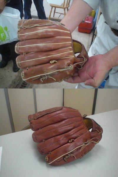 野球グローブもご覧の通り。
