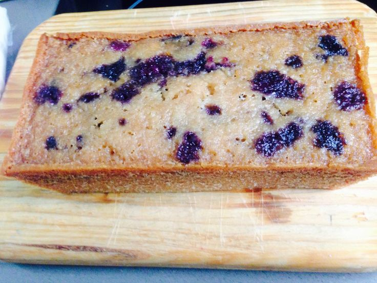 Gluten free almond meal, honey and blueberry cake