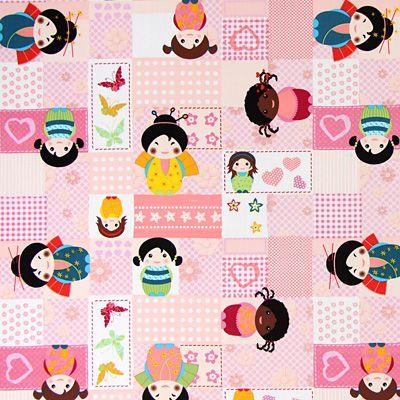 Little Girls 1 - Bawełna - róż