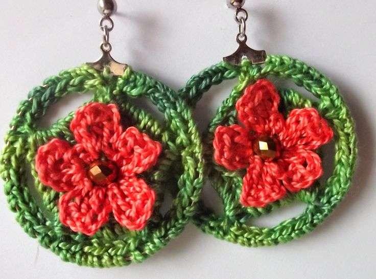 42 best gossamer tangles earrings images on pinterest earrings gossamer tangles crocheted flower hoop earrings free crochet pattern by angela saylor dt1010fo