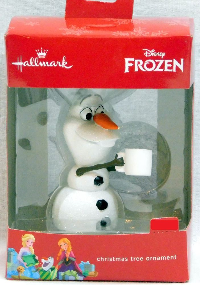 Hallmark Disney Frozen Olaf with Hot Chocolate Cup 2016 Christmas Ornament #Hallmark