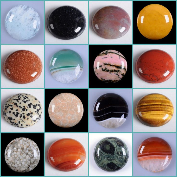 30mm Round cabochon CAB flatback semi-precious gemstone Save $ in bulk