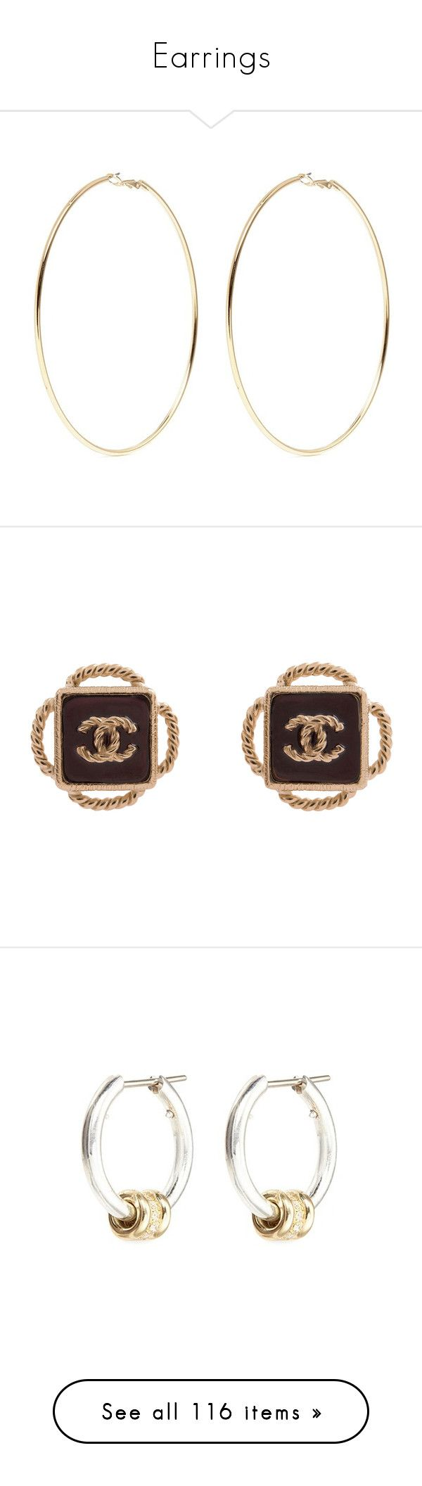 """""""Earrings"""" by oh-aurora ❤ liked on Polyvore featuring jewelry, earrings, accessories, metallic, gold plated hoop earrings, kenneth jay lane earrings, kenneth jay lane jewelry, gold plated jewelry, hoop earrings and red"""