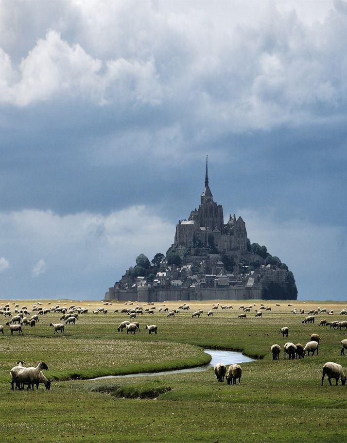 Mont Saint-Michel in Normandy, France (via Danny Vangenechten).