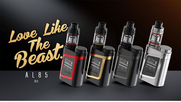 We are very excited with the arrival of the SMOK ALIEN AL85 Kit: including the AL85 Mod with max. power output of 85W and the TFV8 portable Baby Tank 3ml for big clouds and excellent flavour!
