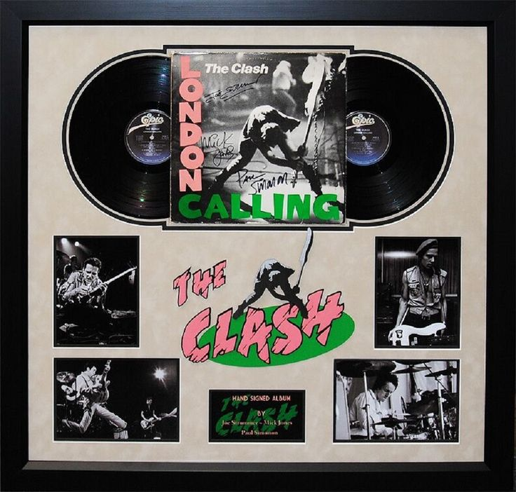 The Clash - London Calling- Signed Album - Framed