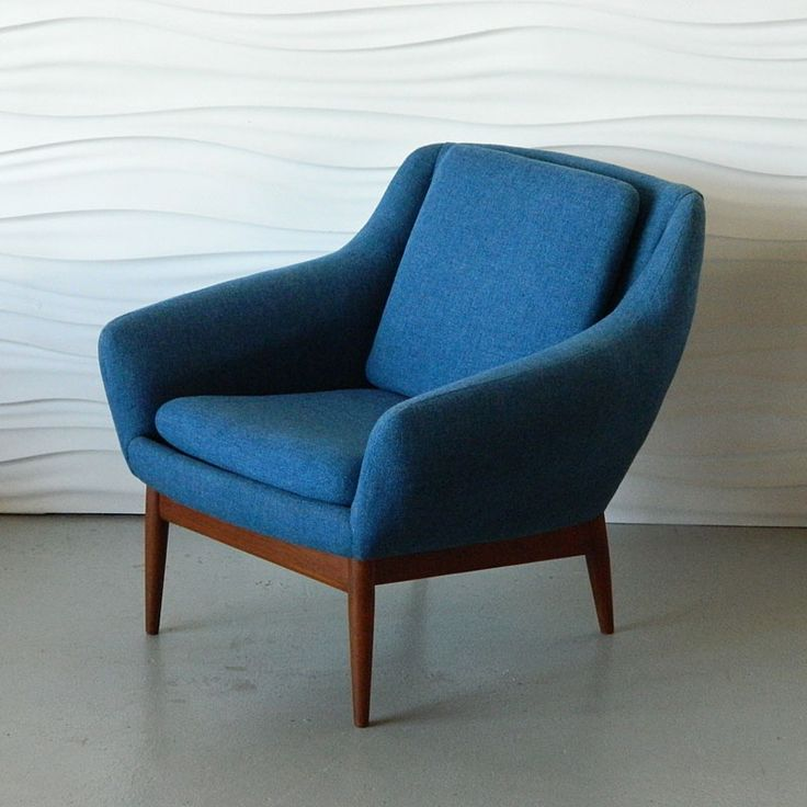 Blue Mid Century Chair