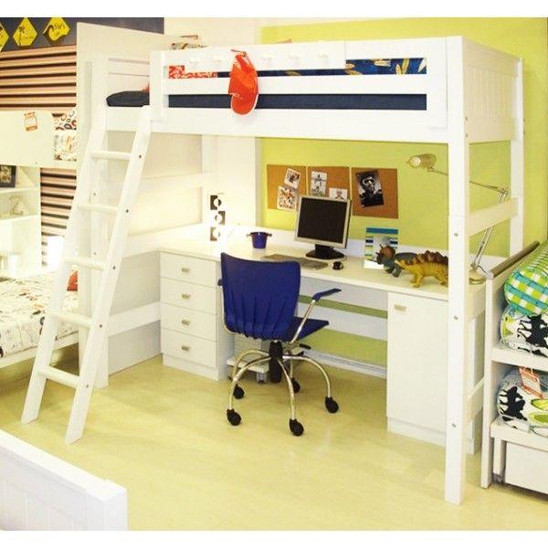 25 melhores ideias de cama alta infantil no pinterest beliches infantis ikea ikea mid - Cama alta ikea ...