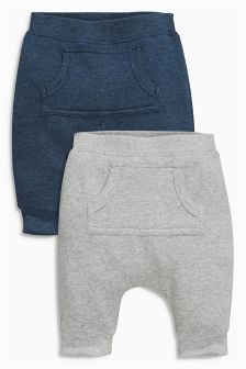 Two Pack  Jersey Joggers (0-18mths)