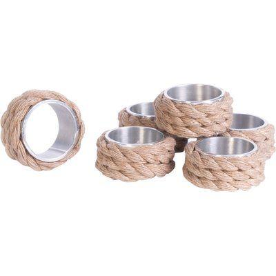 Breakwater Bay 6 Piece Napkin Ring Set