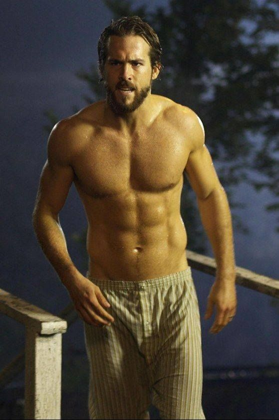 "Ryan Reynolds in ""Amityville Horror""...those ABS!!"