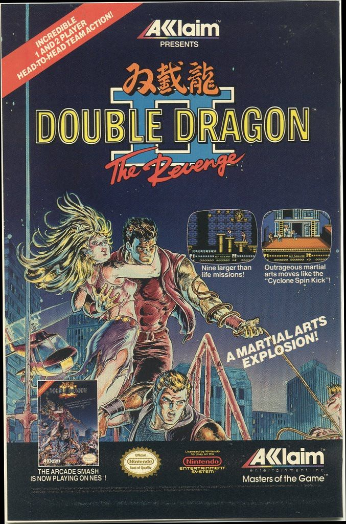 Video Game Ads, 1980s / 1990s | Retronaut...oh,this was a fun game!especially in double team & you got to kick you partner around,lol