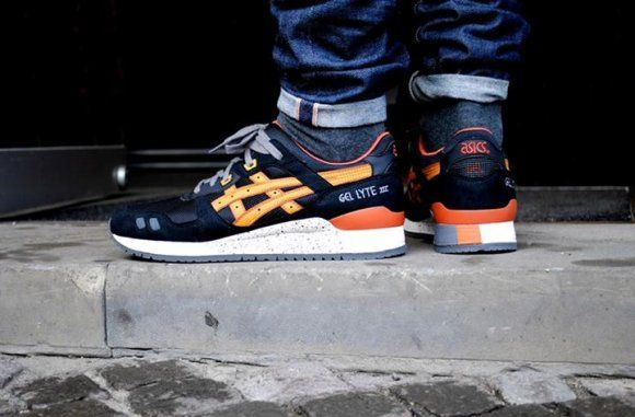 ... asics gel lyte iii black tan kicks on the ground pinterest asics
