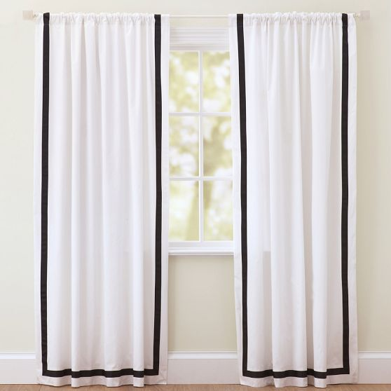 Black & White Big girl room :)   Suite Ribbon Drape With Blackout Lining | PBteen