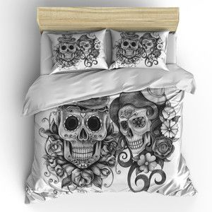 Skull Bedding Sugar Skull Duvet Cover Set Skull Bedding Pillow Shams Best Friends