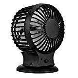 Extsud Rechargeable USB Desk Fan Powerful Airflow Personal Mini Fan Small Table Fan with Pedestal 2 Level Speed Built-in 800mAh BatteryPortable for Desktop Tabletop Office Room Travel
