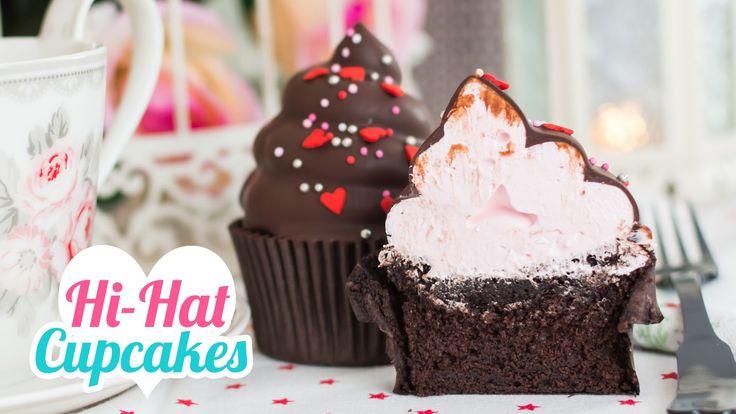 Hi-Hat Cupcakes | Merengue italiano y chocolate | San Valentín | Quiero ...