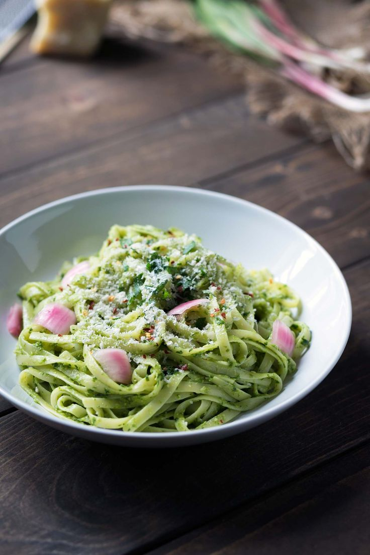 This creamy ramp pesto pasta has bright, clean flavors and is a ...