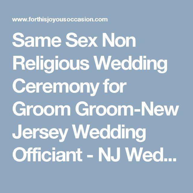 same sex non religious wedding ceremony for groom groom new jersey wedding officiant nj