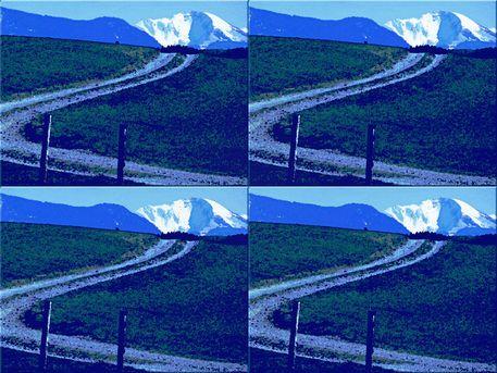 """'Wandkacheln """"Blaues Land (2)""""' von Rudolf Büttner bei artflakes.com als Poster oder Kunstdruck $18.03"""