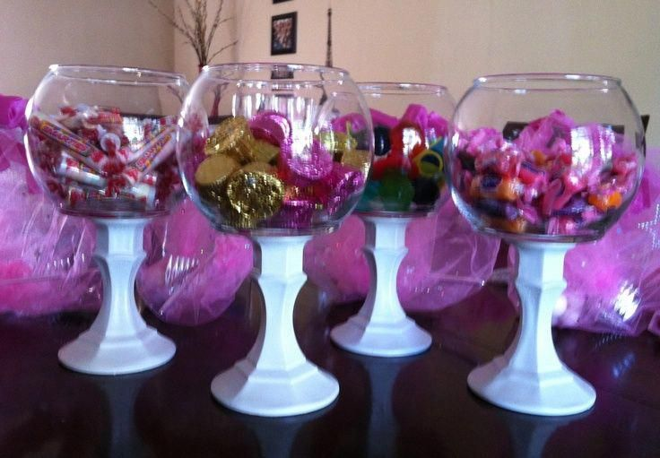Dollar Tree Candy Buffet Candy Buffet From Dollar Tree Glass Globes And Candle Sticks Spray U Dollar Tree Crafts Diy Wedding Buffet Candy Centerpieces