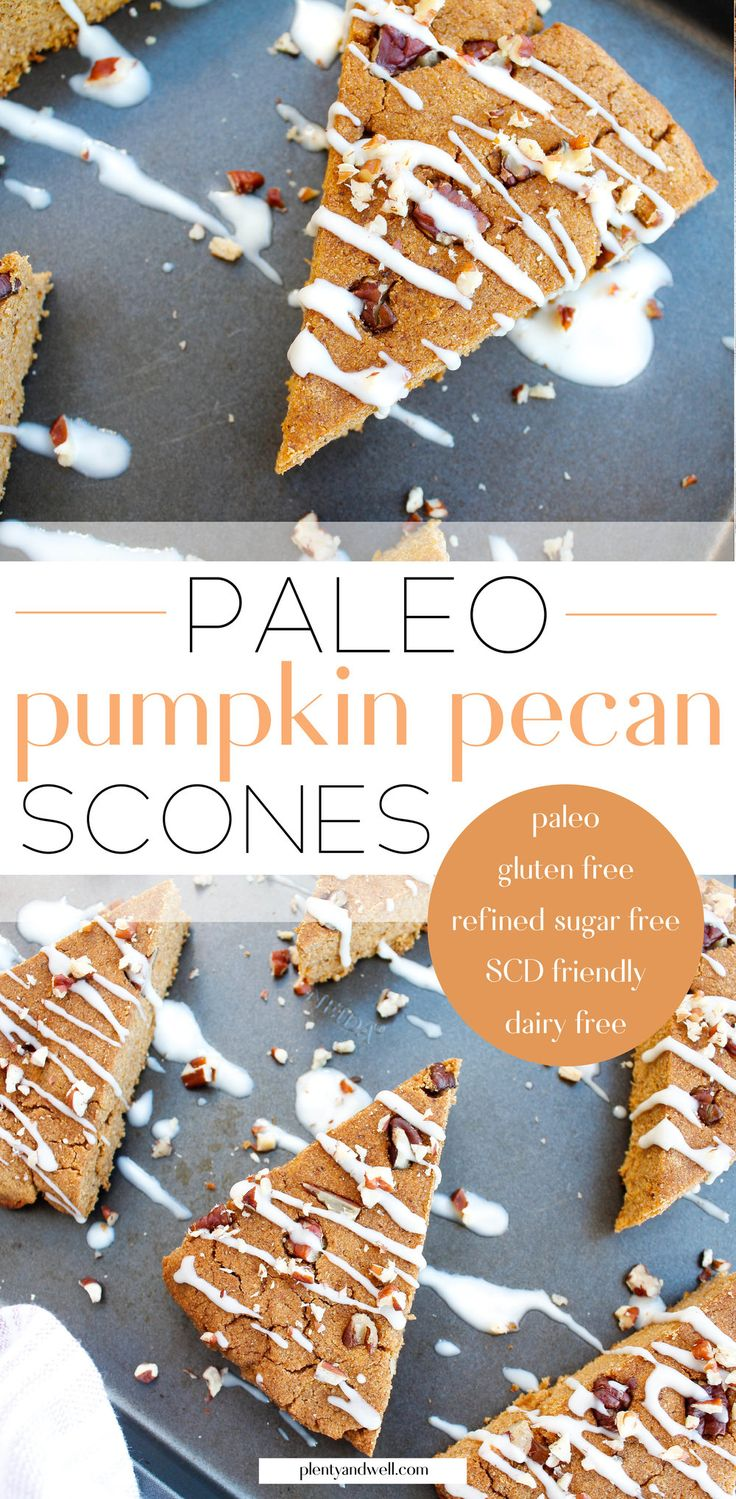 These paleo pumpkin scones are the perfect way to …