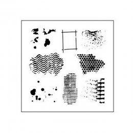 Šablona TCW / Texturized | The Crafters Workshop | Masky a šablony | SCRAPBOOK | eShop | Polymerová hmota, kurzy fimo, eshop – Nemravka