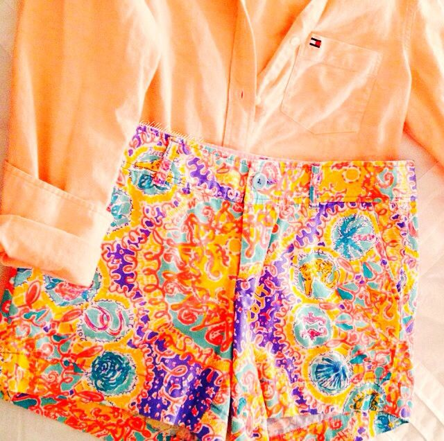 Lilly Pulitzer Written in the Sun (WITS) callahan shorts, $74 Tommy H Oxford, $98