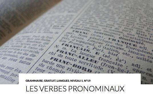 LES VERBES PRONOMINAUX Les 4 catégories de verbes pronominaux : Les verbes réfléchis Ce sont les verbes où le sujet et le complément d'objet direct (COD) sont la même personne. Le sujet fait l'action sur lui-même. La suite sur : http://www.lcf-magazine.com/?p=1198