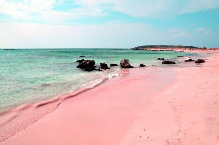 Spiagga Rosa auf Sardinien  steht mittlerweile unter strengem Naturschutz und darf nicht mehr betreten werden, weil Touristen immer wieder Sand mitgenommen haben