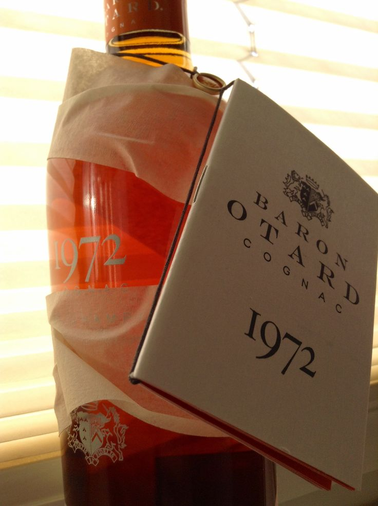 #GoldSmilesBySilver #Baron Otard Cognac #40YO #1972 vintage ...[C]rack a bottle open!...