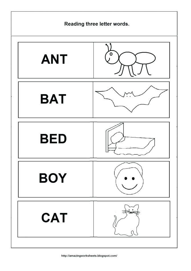 Kindergarten Three Letter Words Worksheets Reading Three Letter Words Worksheets Gotweb In 2020 Three Letter Words Letter N Words Kindergarten Subtraction Worksheets