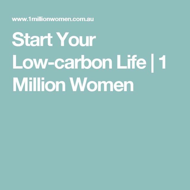 Start Your Low-carbon Life | 1 Million Women