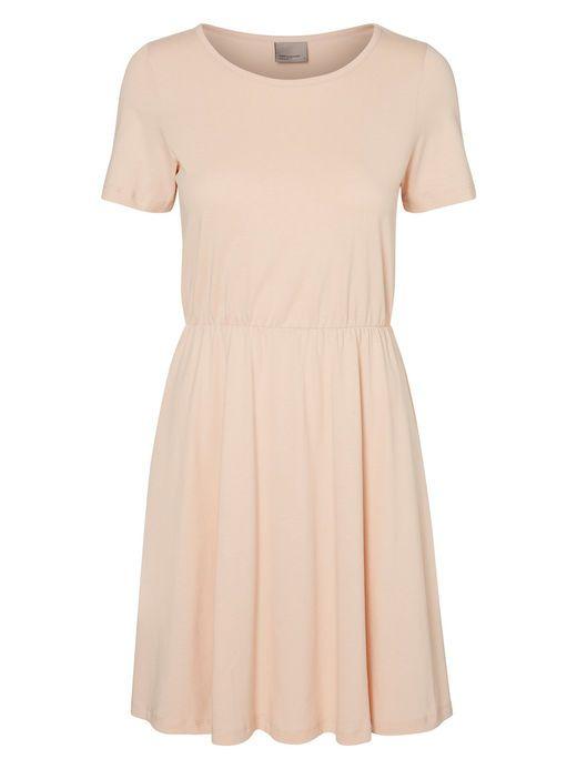 SHORT SLEEVED DRESS, Rose Dust 120 kr.