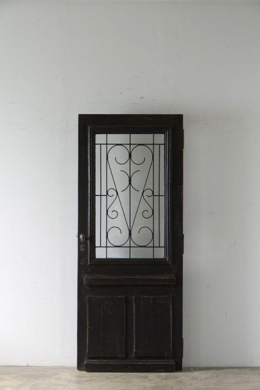 antique door with simple ironworks / シンプルなアイアン飾りのアンティーク扉 - boncote | アンティークドアの直輸入 建具大量在庫