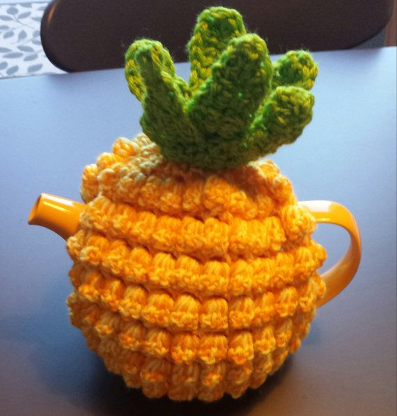 Pineapple Teapot Cozy rare crocheted version by CrochetbySparkle, $45.00