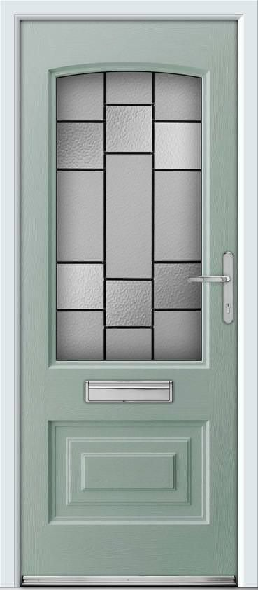 Ultimate Rockdoor Portland Horizon in Chartwell Green  sc 1 st  Pinterest & 11 best Front doors images on Pinterest | Façades Foyers and Front ...
