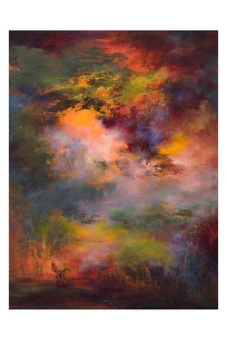 "My Favorite by this Artist. Saatchi Online Artist Rikka Ayasaki; Painting, ""Passions - twilight 7008"" #art"