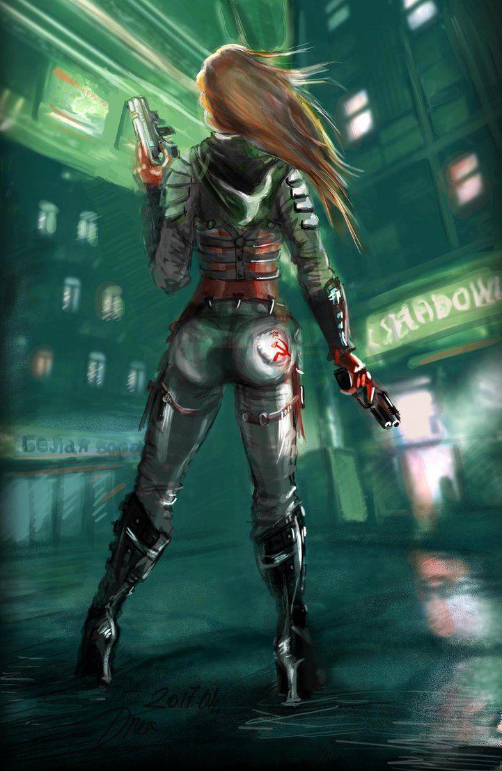 Girl With Revolvers by lafilleduserpent.deviantart.com on @DeviantArt