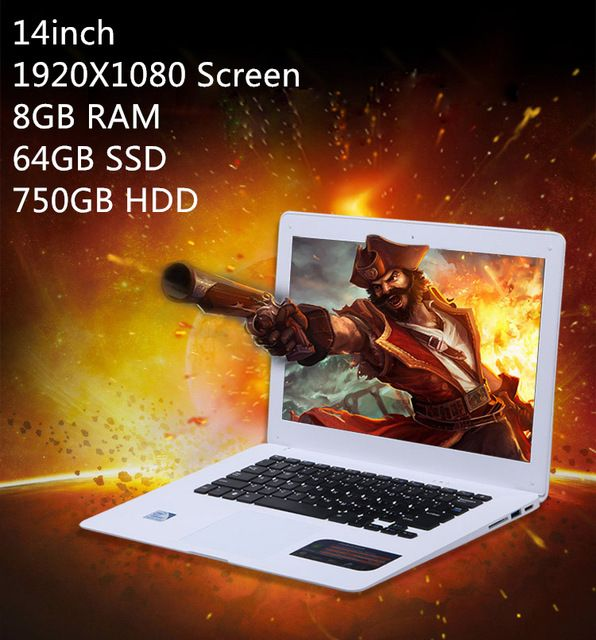 8GB+64GB+750GB 14 inch Quad core J1900 windows 8.1 system WIFI&Bluetooth ultrathin ultrabook laptop notebook computer US $349.00 /piece To Buy Or See Another Product Click On This Link  http://goo.gl/EuGwiH