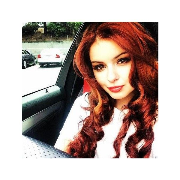 'Modern Family' Star Ariel Winter Dyes Hair Bright Red! ❤ liked on Polyvore featuring hair and faceclaims