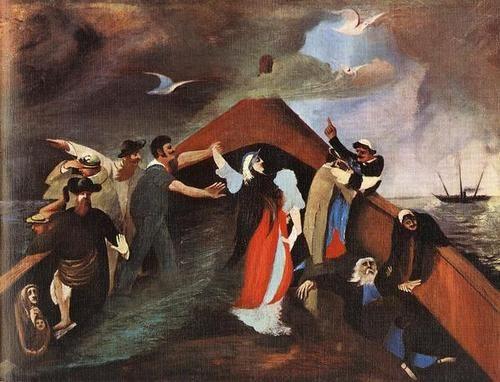 """Naufrágio"", Tivadar Kosztka Csontvary, 1903"